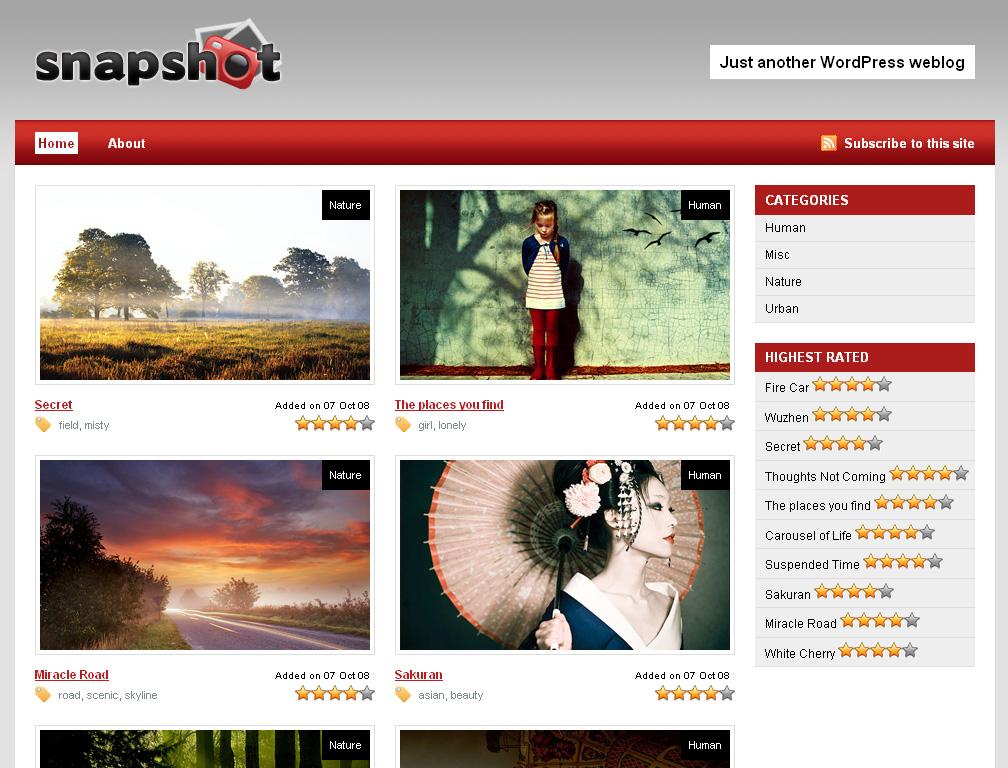 Snapshot-free-wp-theme
